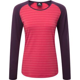 Mountain Equipment Redline T-shirt à manches longues Femme, virtual pink stripe/blackberry